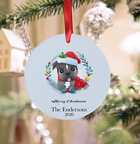 Wini2342ckey - Ornamento per cagnolino di Natale personalizzato per cagnolino di famiglia, ornamento di Natale, decorazione per albero di Natale