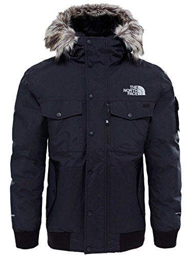 The North Face Gotham Veste Homme, Noir (TNF Black/High Rise Grey), FR : XL (Taille Fabricant : XL)