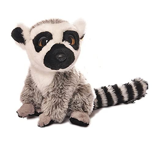 Mimitool Postura de la Postura de Lemur Lemur Lemur Mini Regalo de Juguete de Peluche de Peluche de Monte de Ojos Grandes (Altura: 18cm) (Size : 18cm)