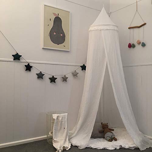 Zeke and Zoey Betthimmel zum Aufhängen, Weiß Versteckzelt für Kinder – Kinderzimmer. Leicht durchsichtige Vorhänge für Bücherecken. Dekoration für Kinderzimmer oder Kinderbett