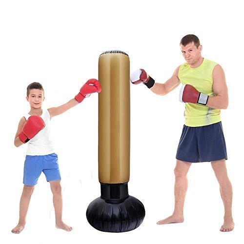 Bolsa de boxeo inflable para boxeo, bolsa de kickboxing de pie, alivio del estrés, bolsa de arena para entrenamiento de adultos y niños