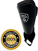 Soccer Youth Shin Guards with Protective Ankle Sleeve for Boys and Girls Sizes (Medium)