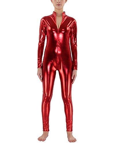 Unisex Adulto Cosplay Ropa Invisible Vestido Carnaval Rojo L
