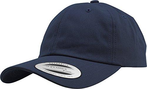 Yupoong Flexfit Low Profile Cotton Twill Unisex Dad Hat Cap für Damen und Herren, 6 Panel Baseball Cap unstructured mit Messingverschluss, navy, One Size