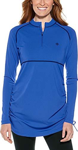 Coolibar Zwemshirt met uv-bescherming, kobaltblauw, 36/XS