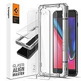 Spigen AlignMaster Protector Pantalla para iPhone 8 Plus, iPhone 7 Plus - 2 Unidades