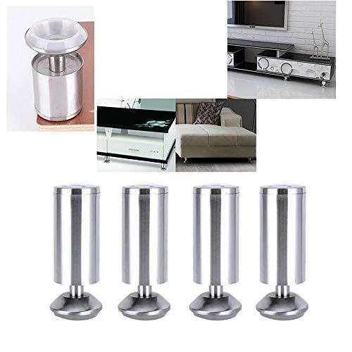 Furniture legs HXLQ skåp i rostfritt stål (4-set), möbler, ställbara soffbordsben, badrumsskåp säng ben bordsben