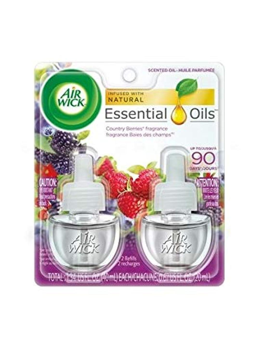 フィット一過性町【Air Wick/エアーウィック】 プラグインオイル詰替えリフィル(2個入り) ワイルドベリーズ Air Wick Scented Oil Twin Refill Wild Berries (2X.67) Oz. [並行輸入品]