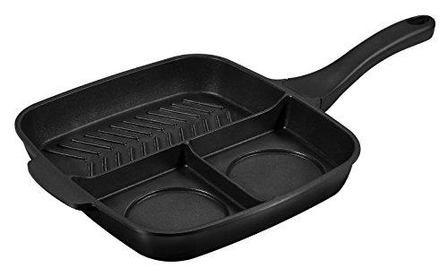 VERY TITAN Multipfanne mit 3 Kochzonen Pfanne, Aluminium, schwarz, 28 cm