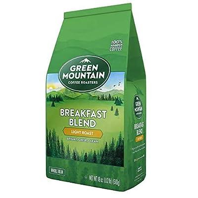 Green Mountain Coffee Roasters Breakfast Blend, Whole Bean Coffee, Light Roast, Bagged 18 oz