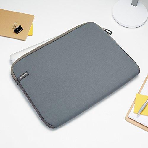 Amazon Basics Laptop-Schutzhülle, für eine Bildschirmdiagonale von 15 - 15,6Zoll, Grau