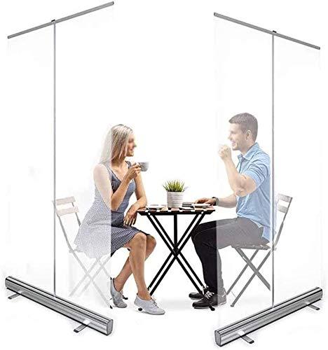 TAIDENG Protector de estornudos de PVC transparente para el piso, protector para gimnasio, barbería, pancarta enrollable portátil, protección contra escupir (tamaño : 80 x 180 cm)