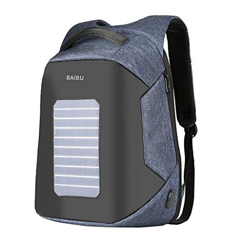 Sharplace Solar Panel Rucksack Backpack Schulrucksack Rucksäcke Laptoptasche Sportrucksack mit Solar Ladefunktion für Outdoor-Reisen Camping - Denim Blue