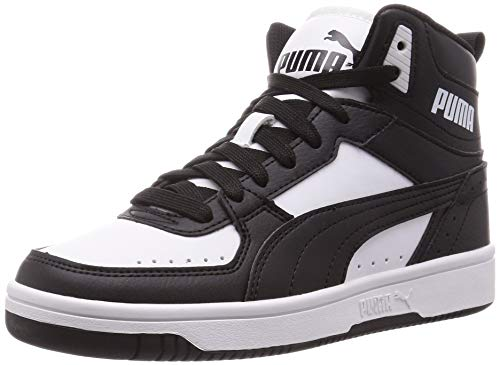 PUMA Unisex Rebound Joy Sneaker, Black Black White, 45 EU