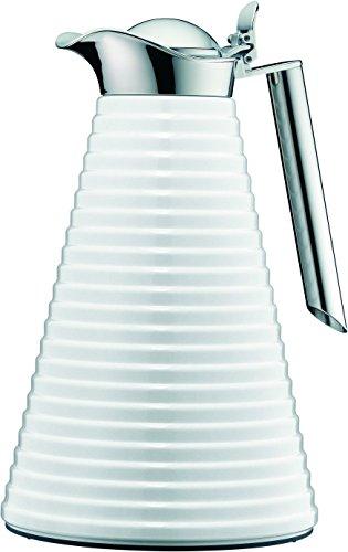alfi 1560.219.100 Isolierkanne Achat, Aluminium Polar Weiß 1,0 l, 12 Stunden heiß, 24 Stunden kalt