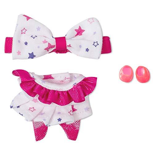 Distroller Neonate Micro Nerlie Mikromerito vestido blanco y rosa con estrellas y zapatos – Exclusivo de México