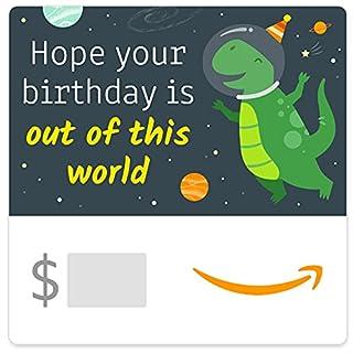 Amazon eGift Card - Happy Birthday Dinosaur in Space (B096TK9BZW) | Amazon price tracker / tracking, Amazon price history charts, Amazon price watches, Amazon price drop alerts