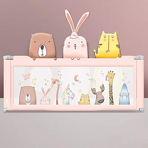Buy Discount Bed Bolster Crib Fence Anti-Cold Bedside Fence Three Pieces Baby Infant Railing Safety On Children Guardrail Universal Anti-Fall (Color : Pink, Size : 200x220x220cm)
