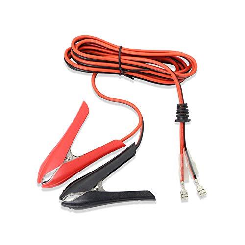 Honglei bil batteriklämma klämma ström alligator klämmor kabel, 12 V/24 V alligator klämma batterilkabel förlängningskabel med ledning och ledningar enkelt huvud terminal (1,8 m 18 AWG 10 A)