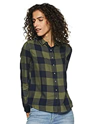 Lee Womens Checkered Regular Fit Shirt