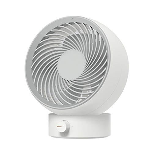 FLYFO Ventilador Portátil Pequeño, Mini Ventilador Refrigeración Regulable,Ventilador Eléctrico Ángulo Oficina Oscilatorio Escritorio Silencioso Ventilador Mudo Refrigerador USB,Blanco