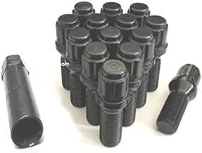 AVNPerformance 12x1.25 Black Spline Tuner Lug Bolts   Wheel Locks   24mm Shank   Fit Most Jeep Dodge Fiat (5)