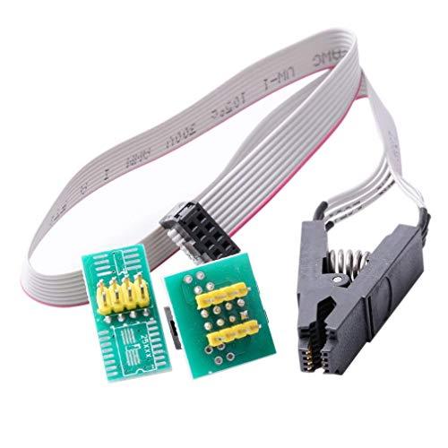 HiLetgo SOIC8 SOP8フラッシュチップICテストクリップICソケットアダプター 150MIL 205MIL BIOS/24/25/93
