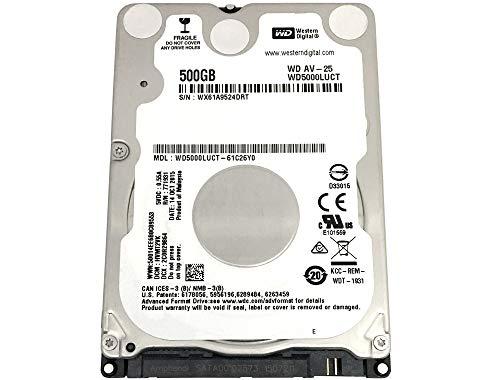 Western Digital WD5000LUCT AV 500GB 5400RPM 16MB Cache (7mm) SATA 3.0Gb/s Internal 2.5inch Notebook Hard Drive