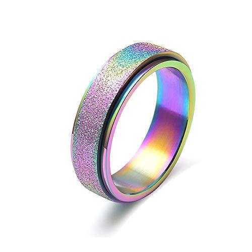 Doyime mejor regalo anillo de titanio de acero unisex tama?o