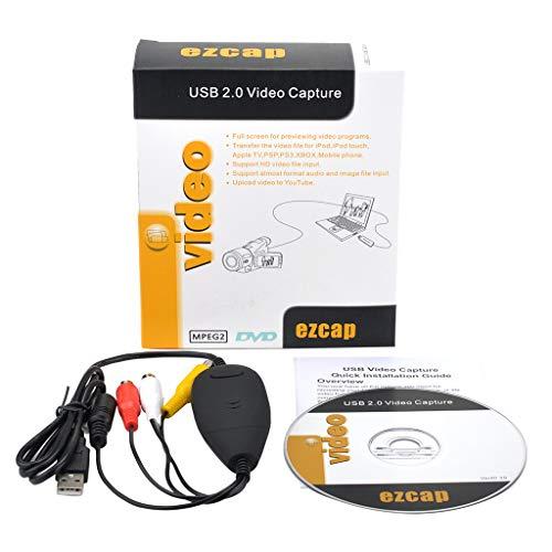 JOYKK 172 USB Video Capture Converter Video Recorder DVD Camcorder - Negro