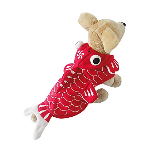 Amakunft Divertido Disfraz de Perro de pez de Oro, para Halloween, Mas
