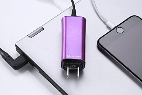 """超小型65W ノートPC汎用 ACアダプター FINsix """"Dart"""" 超軽量85g 11種類の変換プラグで1000機種以上のノートPCに対応 USB5V出力付きでPCとスマホ同時充電 ※必ずご使用のPCとの互換性をご確認ください。『PSE認証済』 (マ"""