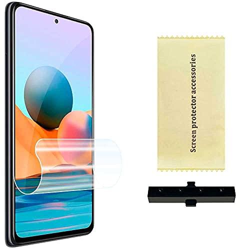 Ociodual Hydrogel Bildschirmschutzfolie Kompatibel mit Xiaomi Redmi Note 10 PRO/MAX Film Bildschirm Schutz Folie Schutzfolie Kratzfest