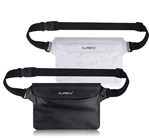 KUPBOX 2 Stück wasserdichte Tasche mit Verstellbarem Gurt wasserdichte Beutel,100% wasserdichte Handytasche Handyhülle Schutzhülle für...