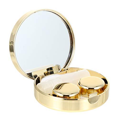 DOITOOL 1 Set Kontaktlinsenbehälter, Mini-Reise-Kontaktlinsenbox-Sets, mit Spiegel, tragbare Mini-Kontaktlinsenbox