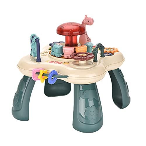 Gongcheng Animal Paradise - Mesa de juegos para niños, con batería colorida y luminosa, juguete educativo