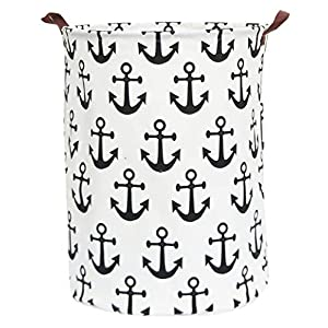 CLOCOR Large Round Storage Baskets,Collapsible Sto...