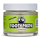 Uncle Harry's Fluoride Free Toothpaste - Cinnamon (3 oz glass jar)