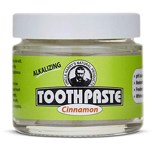 Uncle Harry's Cinnamon Remineralizing Toothpaste Organic | Natural Whitening Toothpaste Freshens Breath & Promotes Enamel | Vegan Fluoride Free Toothpaste