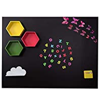 磁気黒板ウォールステッカー黒板ウォールペーパーリムーバブルオフィスティーチングウォールステッカー、子供部屋のためのほこりのない消去クリーン家の装飾(Size:39''x47''(100x120cm),Color:ブラック)