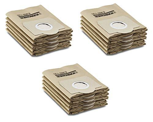 Filter-Set für Kärcher Nass-/Trockensauger mir original Kärcher Papierfilterbeutel (6.959-130.0) (3x Papierfilterbeutel)