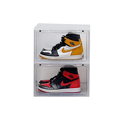 Zapatos De Bolas Engrosados A Prueba De Humedad, Caja De Almacenamiento De Plástico Transparente, Caja De Boxeo A Prueba De Polvo-Transparente