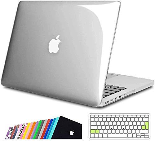 iNeseon Funda MacBook Pro 13 (Tamaño 31,4 x 21,9 cm) Retina, Rígida Carcasa Duro y Cubierta del Teclado Transparente EU para MacBook Pro 13 Pulgada Modelo A1502 e A1425, Cristal Claro