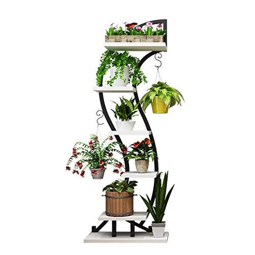 Soportes para plantas Jardinería Inicio Salón Flor Stand Rack Estante del Pote De Hierro Forjado Multi-Capa De Suelo del Balcón Interior Estante Planta Suculenta Huertos urbanos y Otras estructuras