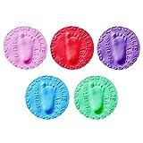 MagiDeal 5x Kits de Impresión de Huellas de Huellas de Manos de Bebé de Arcilla de Secado Al Aire Que Moldean El Recuerdo