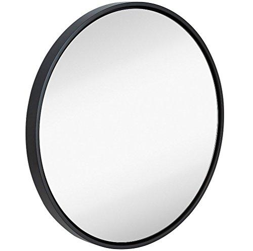 Clean Large Modern 32' Black Circle Frame Wall Mirror | Contemporary Premium...