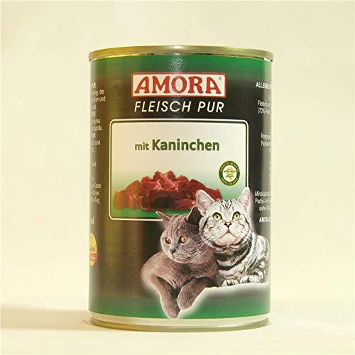 Amora Cat Fleisch pur mit Kaninchen | 6 x 400g Katzenfutter nass