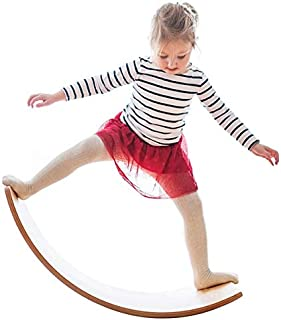 Wooden Wobble Balance Board, Gentle Monster 35 Inch Rocker Board Natural Wood, Kids Toddler Open Ended Learning Toy , Yoga...