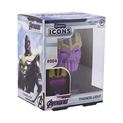 Paladone Thanos Icon Light BDP Official Disney Marvel Coleccionable | Ideal para dormitorios infantiles, oficina y hogar | Pop Culture Gaming Merchandise, Multicolor