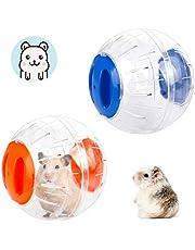 Hamster Ball 2 PCS Hamster Gerbil Palle da Esercizio Ruota da Corsa Simpatiche Palle da Jogging Giocattoli Alleviare La Noia Giocattoli Interattivi per Criceto Gerbillo Piccolo Animale Domestico